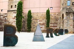 Romańska brama i Placa nowa Fotografia Royalty Free
