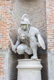 Romańska statua wojownik Zdjęcia Stock