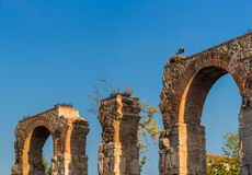 Romański akwedukt Ephesus Selcuk Turcja Obraz Royalty Free