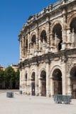 Romański Amphitheatre Nimes Zdjęcie Stock