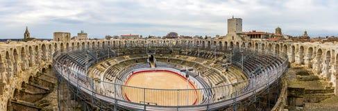 Romański amphitheatre w Arles - UNESCO dziedzictwo w Francja Zdjęcia Royalty Free