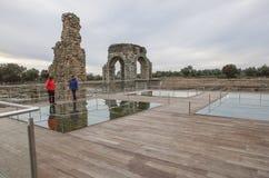 Romański miejsce Caparra, Caceres, Hiszpania Obrazy Royalty Free