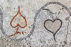 Romańskie mozaiki przy oponą, Liban Obraz Stock