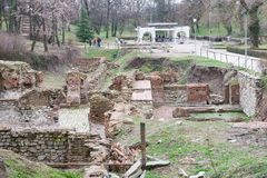 Romańskie ruiny Obraz Royalty Free