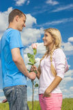 Romatic couple Stock Photo