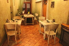 Romatic restaurang Fotografering för Bildbyråer