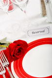 Romatic Restaurant Place Setting Stock Images