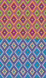 Romb pattern set. EPS. 10.0. RGB. Seamless pattern illustration can be used as template for gift paper or background for greeting cards or event invitations Stock Image