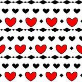 Romb rosso del modello del cuore Fotografia Stock