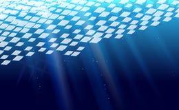 Rombal abstracto de la deriva del hielo del fondo perforado Machacamiento del Rhombus azul del ejemplo del vector de la bandera C foto de archivo