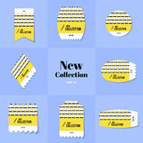 Rombo da coleção e selo postal da forma do quadrado Imagens de Stock Royalty Free