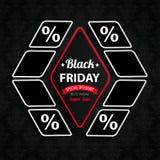Rombo Pices Black Friday Immagini Stock Libere da Diritti