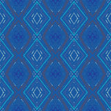 Rombus geometrical vector seamless pattern. Simple rombus geometrical vector seamless pattern in all shades and hues of blue Stock Photography