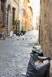 Rome - été 2018 Décharge et déchets au centre Roma, Italie photos stock