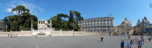 Rome - överblick av Piazza del Popolo royaltyfri bild