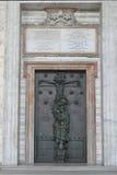 rome Święty drzwi Papieski Archbasilica St John w Lateran Fotografia Royalty Free