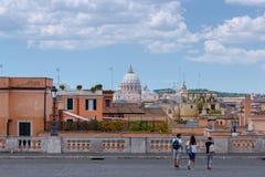 rome Квадрат Quirinal Стоковое Изображение