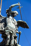 rome мост Италия angelo над ponte rome sant tiber Стоковые Фото