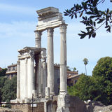 Rome. View of Forum Romanum ruins Stock Photo