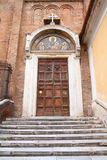 Rome. Italy. Old door to Santa Maria in Aracoeli Basilica, Italian architecture detail Stock Photography