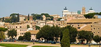 Rome. View of Rome with the monument to Vittorio Emanuele II in the background stock photos