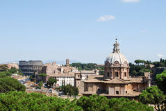 Rome. Aerial view of Rome seen from The Altar of the Fatherland, Italy Royalty Free Stock Images