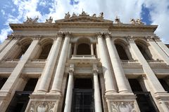 Rome. Italy - famous Papal Archbasilica of St. John Lateran, officially the cathedral of stock images