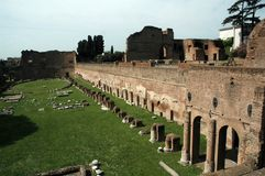 Rome. The palatine hill in rome stock photography