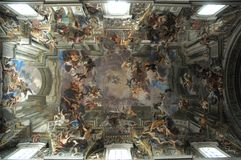 Rome. Ceiling of a Church in Rome royalty free stock photo