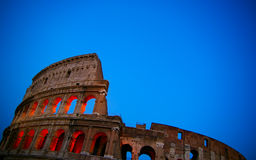 In Rome. The Colosseum in Rome, Italy, at dusk Stock Photography