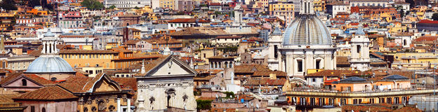 Rome. Panoramic view of the roofs of Rome, Italy Royalty Free Stock Photo