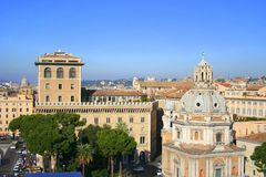 Rome. The panorame of city Royalty Free Stock Photo