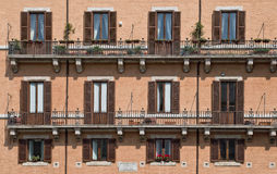 Rome. Typical building detail in Rome, Italy Royalty Free Stock Photography