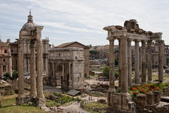 Rome. Forum Romanum in the Ancient Rome Royalty Free Stock Photo