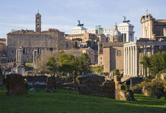 Rome. Panoramic view of foro, Rome Stock Photos