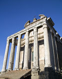 Rome. Temple of Antoninus Faustina, Rome, roman forum Royalty Free Stock Images