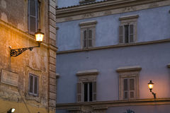 Rome. House facade in trastevere zone, Rome Stock Photo