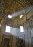 Rome. Saint Peter's basilica interior in Vatican Stock Photography