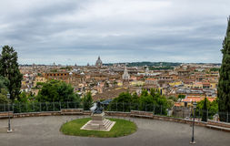 Rome aerial cityscape view from Pincian Hill - Rome, Italy Royalty Free Stock Photos