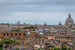Rome aerial cityscape view from Pincian Hill - Rome, Italy Stock Photo