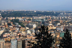 Rome aerial view. A shot of Rome from Mount Mario Royalty Free Stock Photo