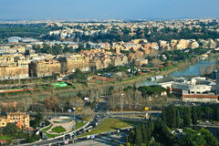 Rome aerial view. A shot of Rome from Mount Mario Royalty Free Stock Photography