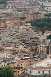 Rome aerial view royalty free stock photography