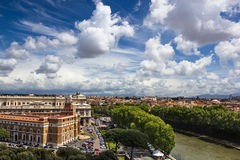 Rome aerial view Royalty Free Stock Photo