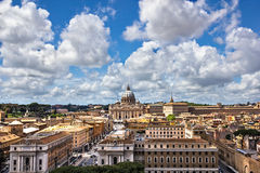 Rome aerial view Royalty Free Stock Images