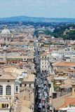 Rome aerial view from Vittorio Emanuele monument Stock Photo