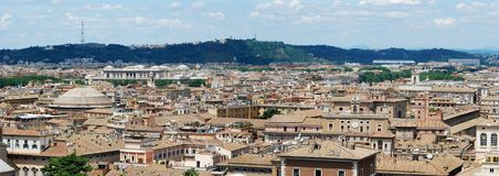 Rome aerial view from Vittorio Emanuele monument Royalty Free Stock Photo