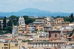 Rome aerial view from Vittorio Emanuele monument Stock Photography