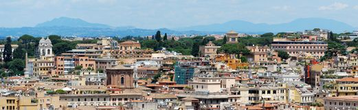 Rome aerial view from Vittorio Emanuele monument Royalty Free Stock Photos