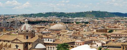 Rome aerial view from Vittorio Emanuele monument Stock Image